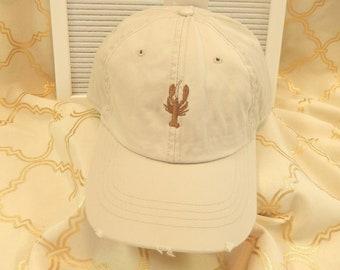 Ready to Ship Adult Unisex Ladies Men Dad Hat Baseball Hat Cap Stone Khaki with Light Brown Crawfish Lobster