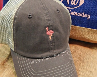 Ladies Trucker Hat Mini Design Mesh Back Baseball Cap Hat Mom Bridesmaid Bride Bachelorette Beach Anchor Flamingo Sea Horse Crab Lobster