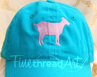 Adult or Kids Goat Cap Hat FABRIC strap Adult or Ladies Size Farm Ranch Herd Cowgirl Cowboy Goat Lady Horse Show