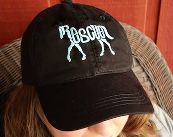 LADIES or Adult Size Rescue Horse Dad Cap Hat FABRIC strap Adult or Ladies Size Farm Rescue Animal Adopt Pet Barn Equestrian Cowgirl Cowboy