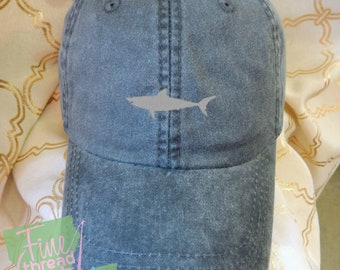 Kids or Adult Ladies Size Shark Mini Design Baseball Cap Hat Leather Strap Beach hat Vacation Beach Baby Mommy Daddy Fin Fish Beach Ocean