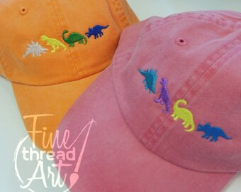 KIDS Dinosaur Baseball Cap Hat Leather Strap Dad Hat Youth Child Boy or Girl Children Dino T Rex