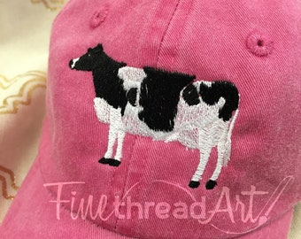 23444d4a141 KIDS Cow Baseball Cap Hat Leather Strap Dad Hat Youth Child Boy or Girl  Children Milk
