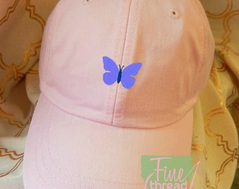 Kids or Adult Ladies Size Butterfly Mini Design Baseball Cap Hat Leather Strap Beach hat Vacation Wildlife Outdoors Camping Bugs Insect