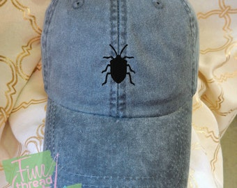 Kids or Adult Ladies Size Beetle or Bug Mini Design Baseball Cap Hat Leather Strap Beach hat Vacation Wildlife Outdoors Camping Bugs Insect