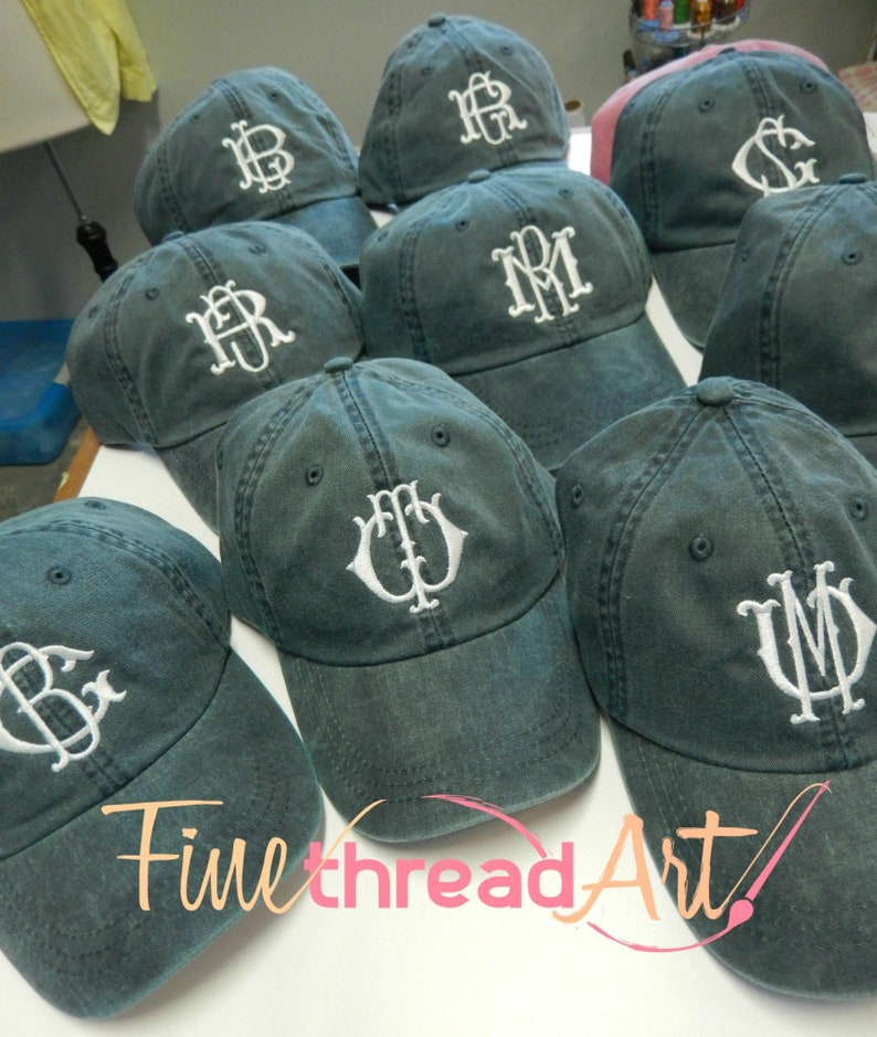 5fa89a7ca37 LADIES Monogram Baseball Cap Hat LEATHER strap Mom Bridesmaid