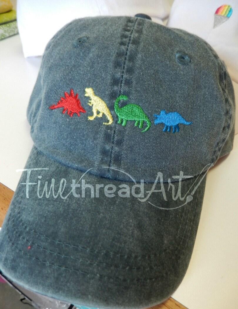 0250ef4441e50 KIDS Dinosaur Baseball Cap Hat Leather Strap Dad Hat Youth Child ...