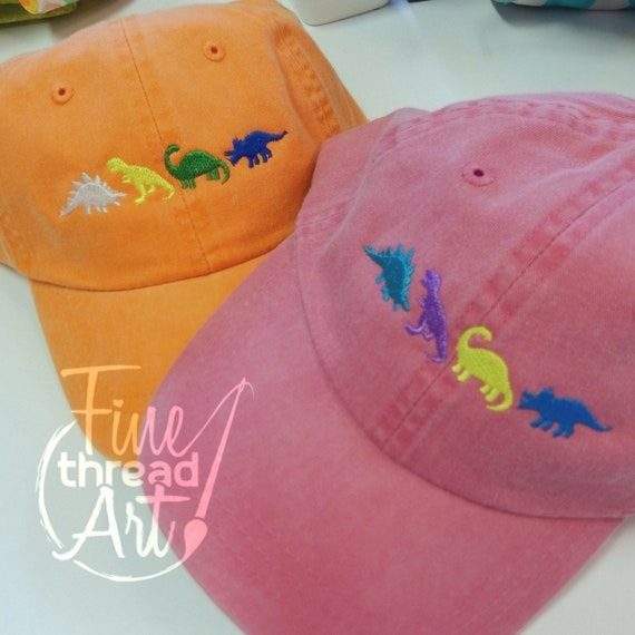 d7617585a99 KIDS Dinosaur Baseball Cap Hat Leather Strap Dad Hat Youth