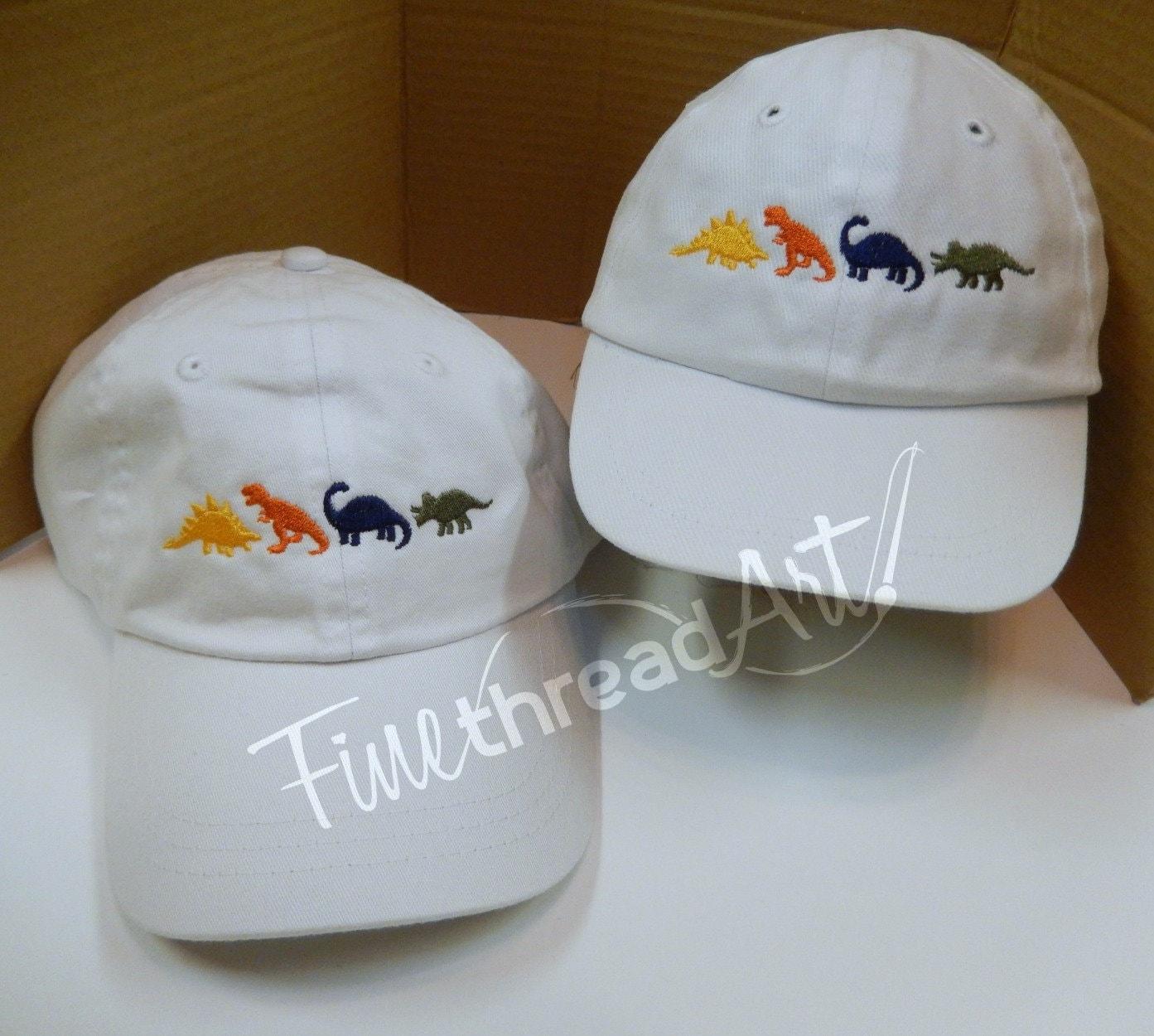 de8d6e5840c Infant or Small Toddler Dinosaur Monogram Baseball Cap Hat for Girls ...