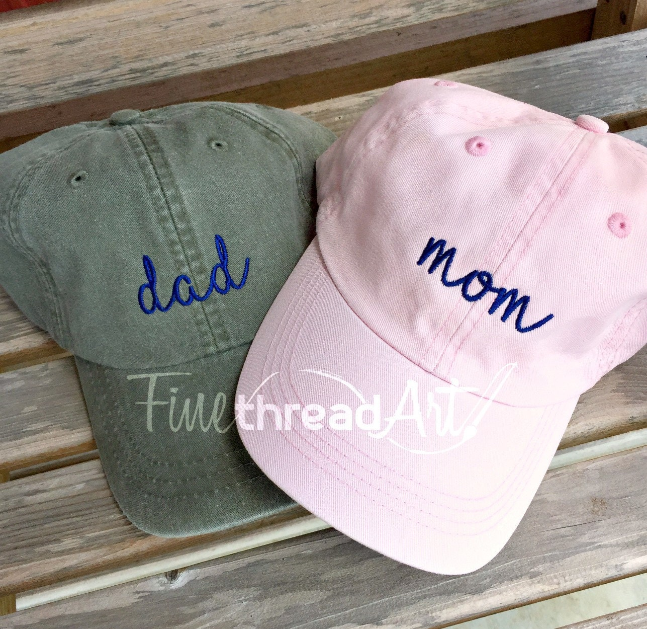 6de48bd608e Mom and Dad Hat Baseball Cap LEATHER strap Pigment Dyed ...