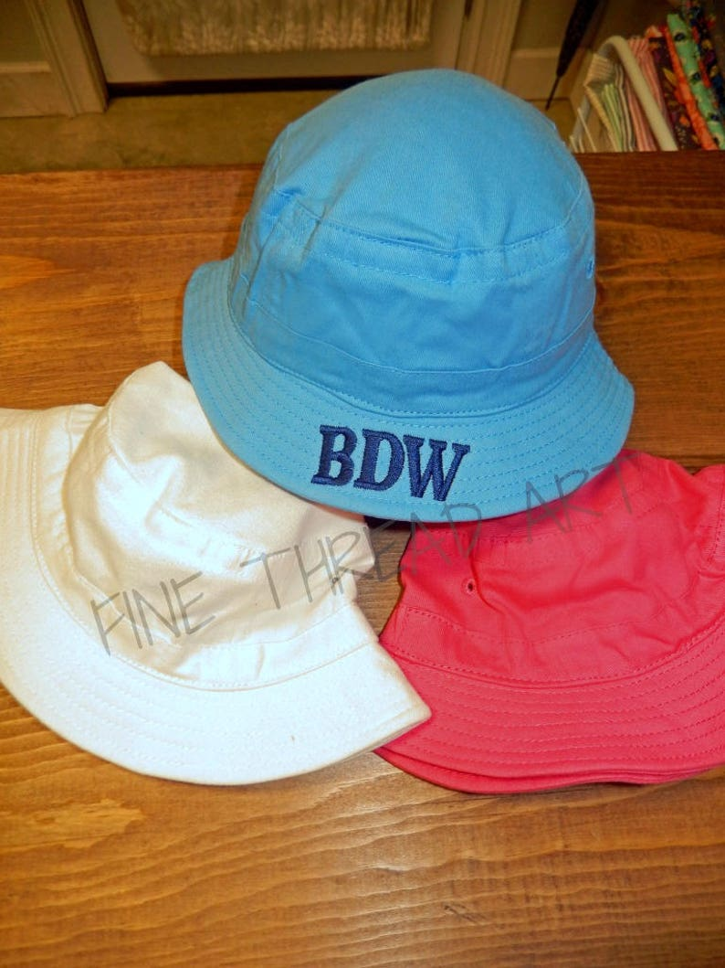 d10a831a5137b Infant or Small Toddler Monogram Sun Hat Bucket Hat Brim for