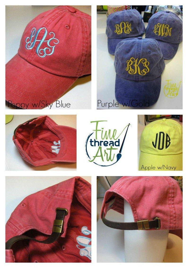 54ad898dca743 LADIES Snow Cone Baseball Cap Hat LEATHER strap Monogram