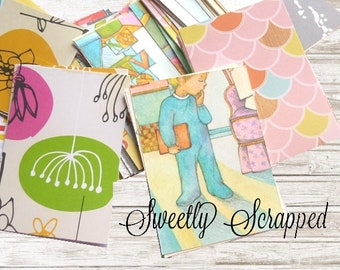 "20 Variety Pack of Journal Cards, Project Life 2.5"" x 3.5"", Grab Bag, Destash, Variety, Mystery, Journaling"