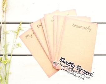 Beautiful Life Journal Cards, Journaling Cards, Scrapbook Cards, Cardmaking Supplies, DIY Lettering, DIY Journaling, DIY Crafts Supplies