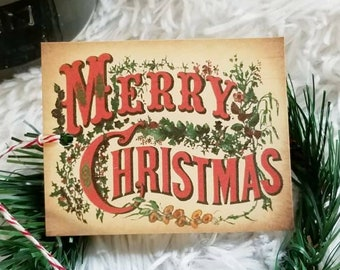 Merry Christmas Tags, Christmas Tree, Christmas Tags, Christmas Labels, Gift Wrapping, Gift Packaging, Vintage, Tags, Tree Tags