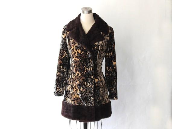 1960s Leopard Print Faux Fur Princess Coat // 60s