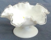 Fenton Silvercrest footed 7 Bowl