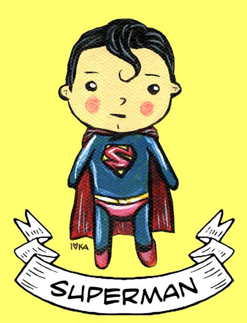 Adorable Superman Print image 0
