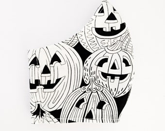 Jack-o-lantern Fabric Face Mask