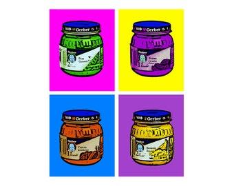 Gerber Jars Quad Kid Pop Art Print