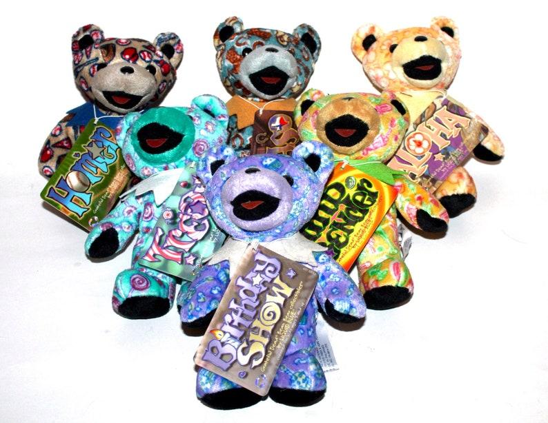 Eighth Edition Grateful Dead plush bears, Liquid Blue, vintage, dead tour,  aloha, el paso, mind bender, treat, homer, birthdayshow