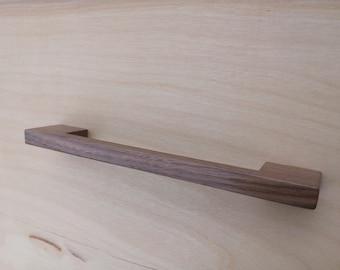 Contemporary Walnut Wood Cabinet Pull