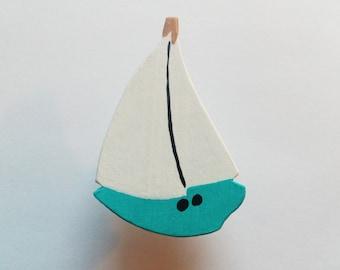 Blue Sailboat Children's Drawer Knob