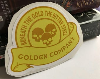 Golden Company. Game of Thrones. A song of ice and fire sticker.