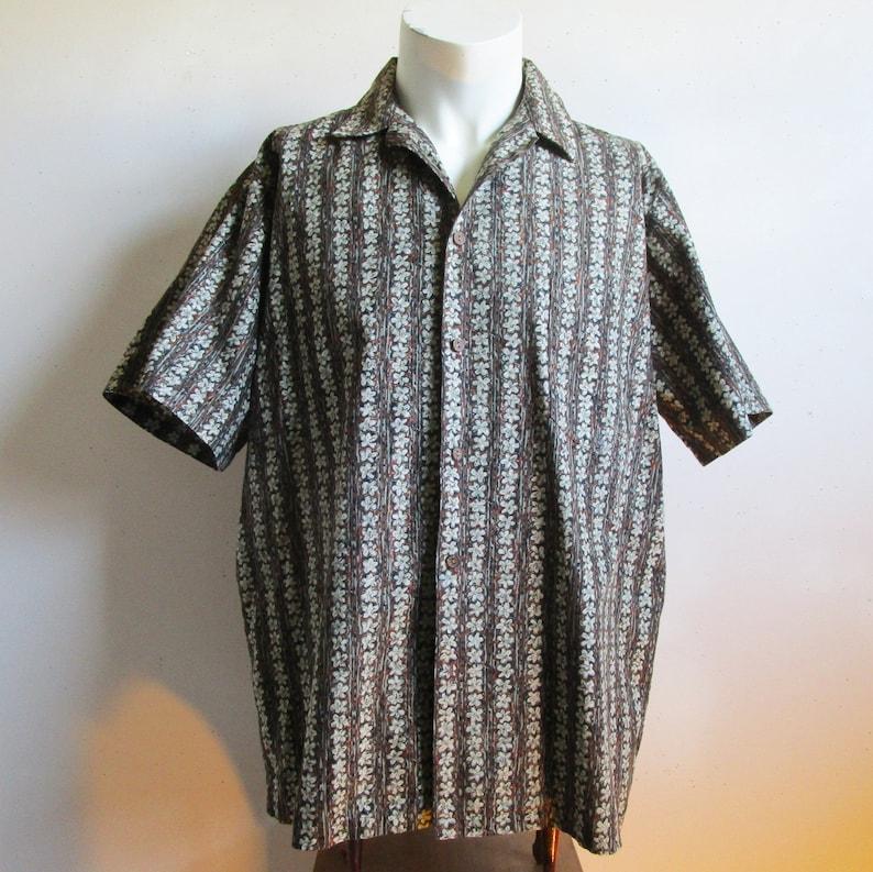 9fc37cef030 Vintage 80s Mens Hawaiian Shirt Hilo Hatties Cotton Floral