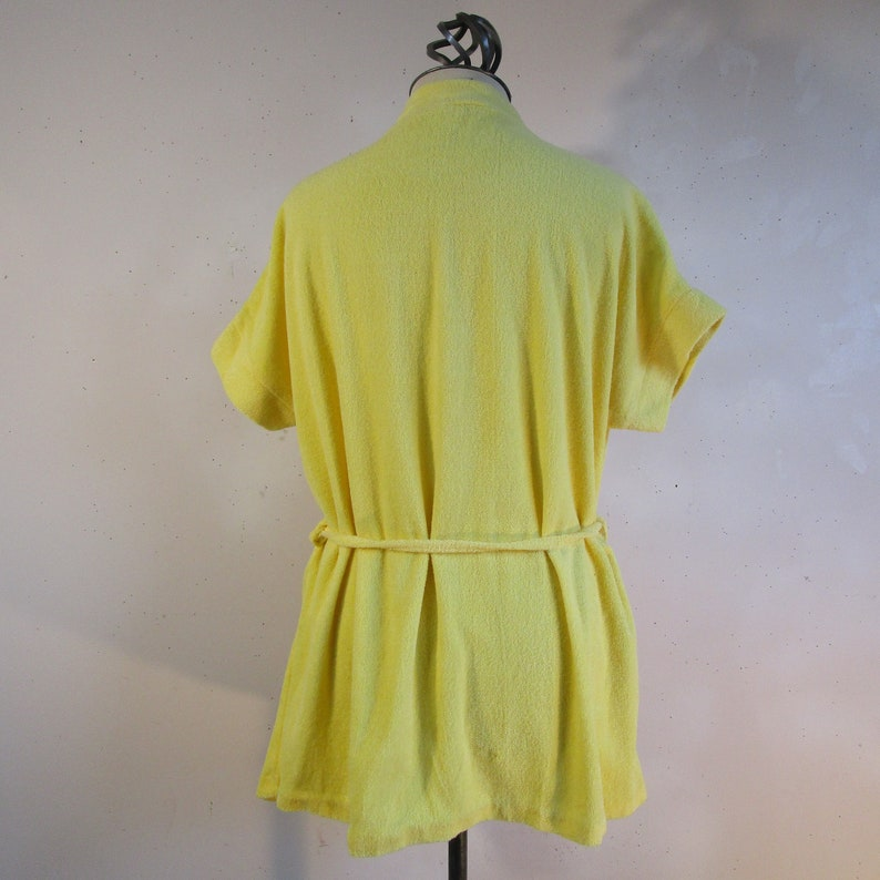838d5b943f22f Vintage 70s Lufty Beach Cover Up Yellow Cotton Terry Cloth | Etsy