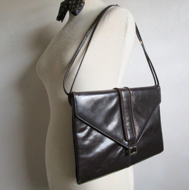 fe0e42ceb5 Vintage MASTERCRAFT 70s Portfolio Dark Brown Leather Suede   Etsy
