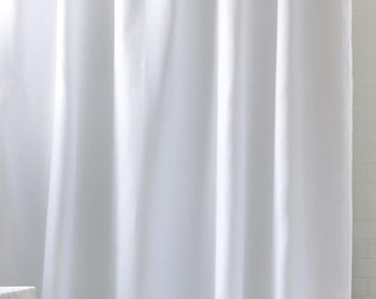 Top And Bottom Pom Shower Curtain