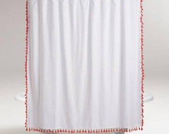 Extra Long Tassel Shower Curtain