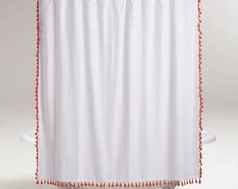 Extra WIDE Tassel Fringe Trim Shower Curtain