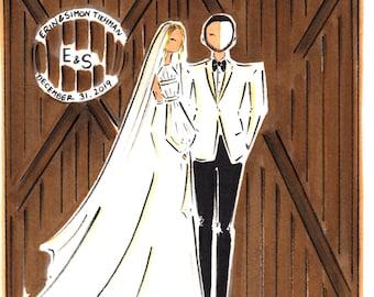 Custom Wedding Portrait / Wedding Gift / Custom Couple Portrait / Custom Watercolor Portrait / Watercolor Portrait / Hand drawn Portrait