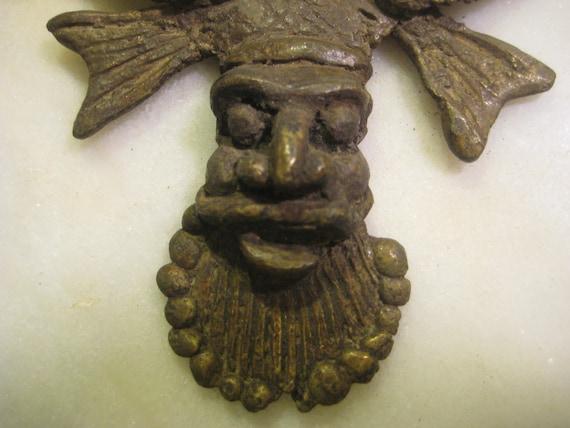 West African antique bronze amulet