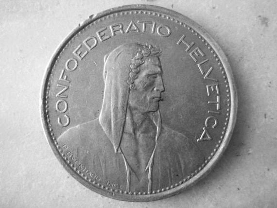 Jahrgang 1968 Schweizer Münze 5 Franken Münzzeichen B Etsy