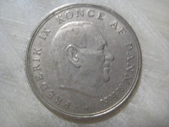 1963 Dänemark 1 Krone Münze Frederik Ix Etsy