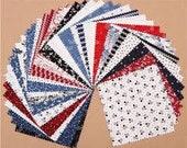 Classic Minis Charm Pack, Robert Kaufman Charm Pack, Precut Fabric, 42 Precut Fabric 5 Inch Squares, Destash Charm Pack, Darlene Zimmerman