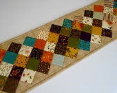 Quilted Table Runner In Fall Colors, Country Quilted Table Topper, Fall Autumn Table Runner Quilt, Patchwork Table Quilt, Fall Decor