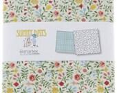 "Sunny Days Charm Pack, 42 - 5"" Precut Fabric Quilt Squares, Benartex Fabrics, Reproduction Charm Pack, Precut Fabric, Destash Charm Pack"