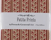 Petite Prints Charm Pack, French General Moda Charm Pack, Precut Fabric, 42 Precut Fabric Squares, Destash Charm Pack,