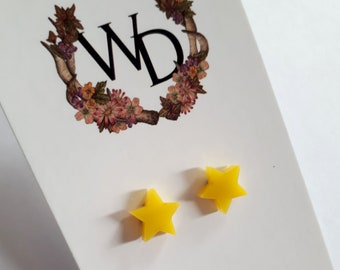 Twinkle Twinkle Stud Earrings in 'Lemon Soda' by Winnifreds Daughter