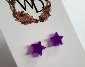 Twinkle Twinkle Stud Earrings in 'Disco Violet' by Winnifreds Daughter