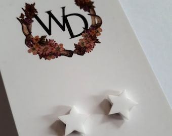 Twinkle Twinkle Stud Earrings in 'Fresh Snow' by Winnifreds Daughter