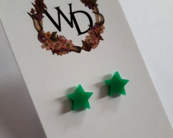 Twinkle Twinkle Stud Earrings in 'Emerald' by Winnifreds Daughter
