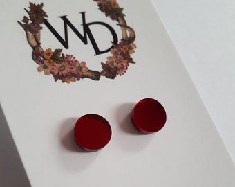 Ruby Jewel Stud Earrings by Winnifreds Daughter
