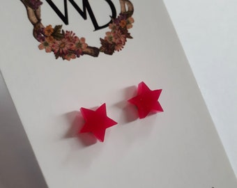 Twinkle Twinkle Stud Earrings in 'Nice Magenta' by Winnifreds Daughter