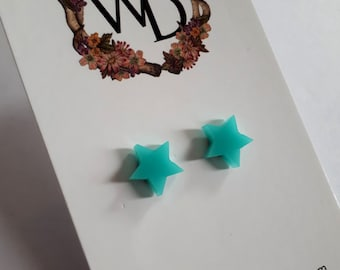 Twinkle Twinkle Stud Earrings in 'Sea Foam' by Winnifreds Daughter