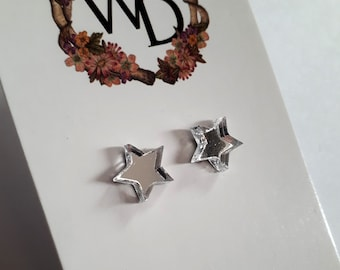 Twinkle Twinkle Stud Earrings in 'Silver Star' by Winnifreds Daughter